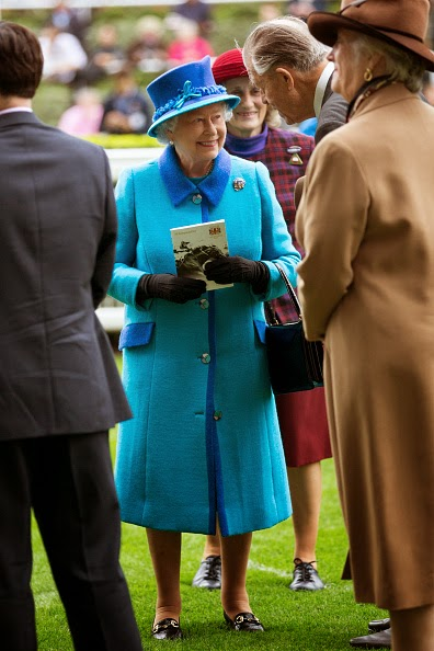 Queen Elizabeth II attends the QIPCO British Champions Day at Ascot Racecourse