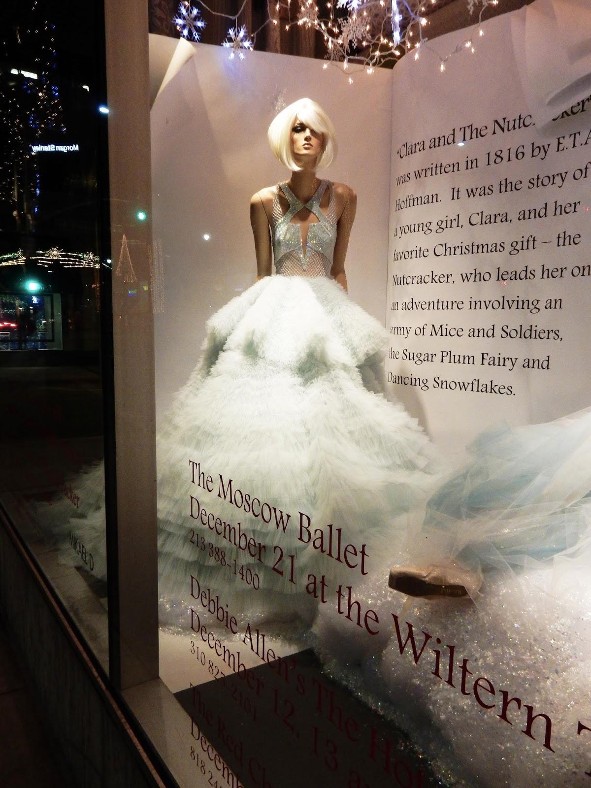 Nutcracker Ballet Marchesa dresses Neiman Marcus Holiday Christmas window Beverly Hill