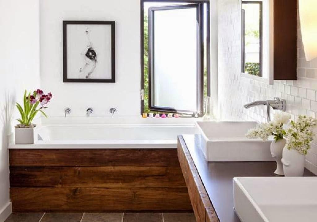 Warm inviting modern rustic bathroom decor home for Bathroom accessory ideas