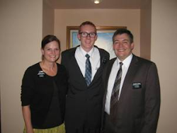 Elder Yates with President and Sister Brough