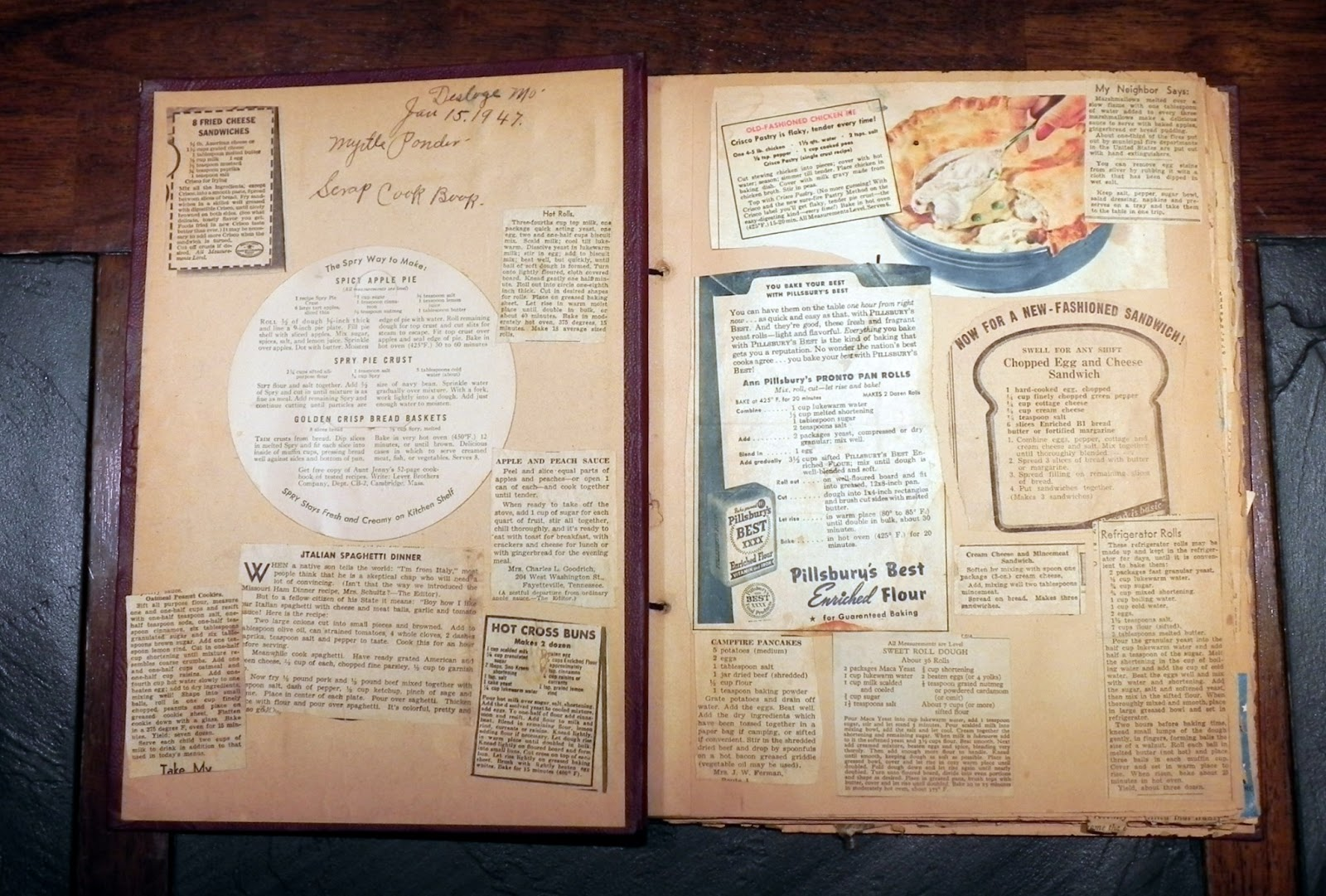 Scrapbook paper cooking - It S Fun To See What She Was Interested In Cooking And It S Equally Fun Looking At How Recipe Notations Have Changed In 66 Years