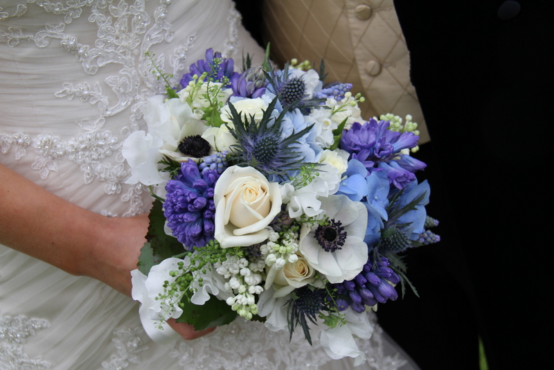 White Wedding Flowers March : Beautiful blue wedding at bartle hall