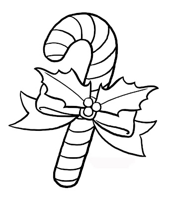 Candy Canes Coloring Pages