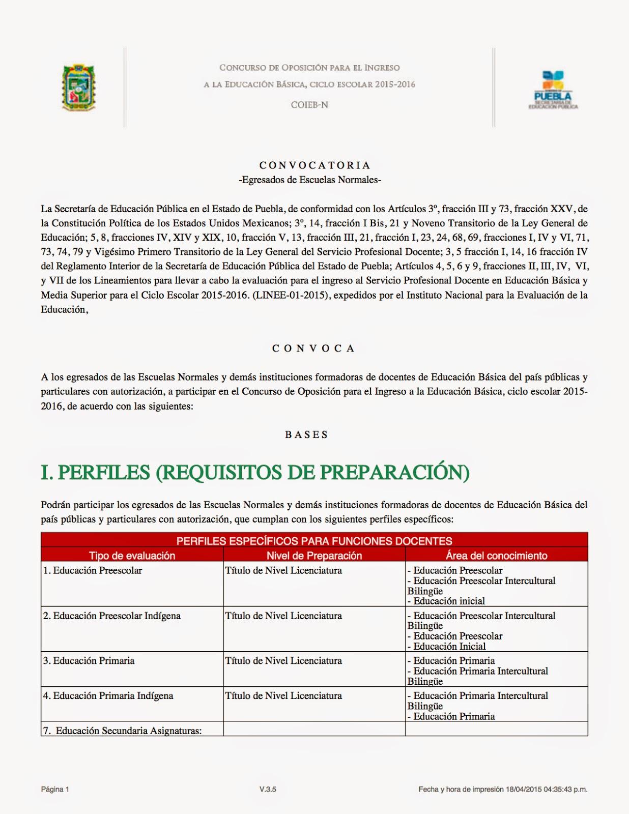 Supervisi n 09 esc sec t cnicas puebla convocatoria Convocatoria para las plazas docentes 2016
