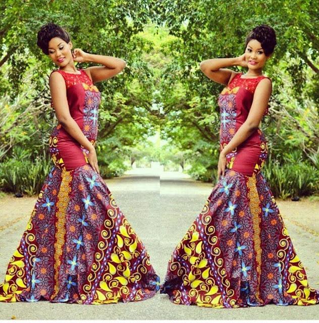 ankara long gown design