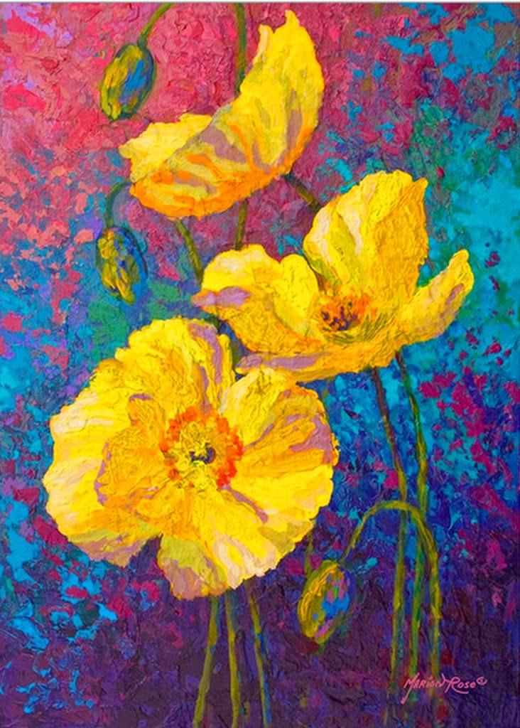 pinturas-decorativas-de-flores-modernas