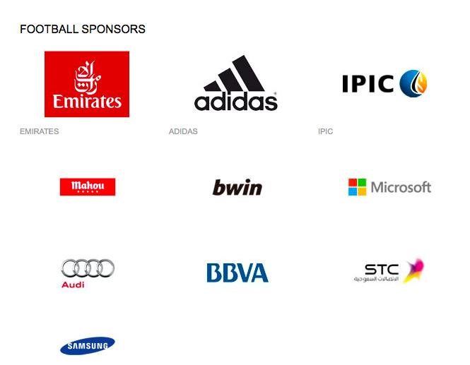 real madrid sponsor