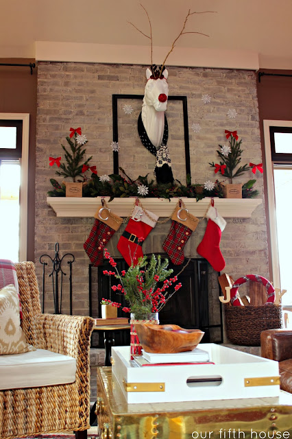 Whimsical Traditional Holiday Mantel