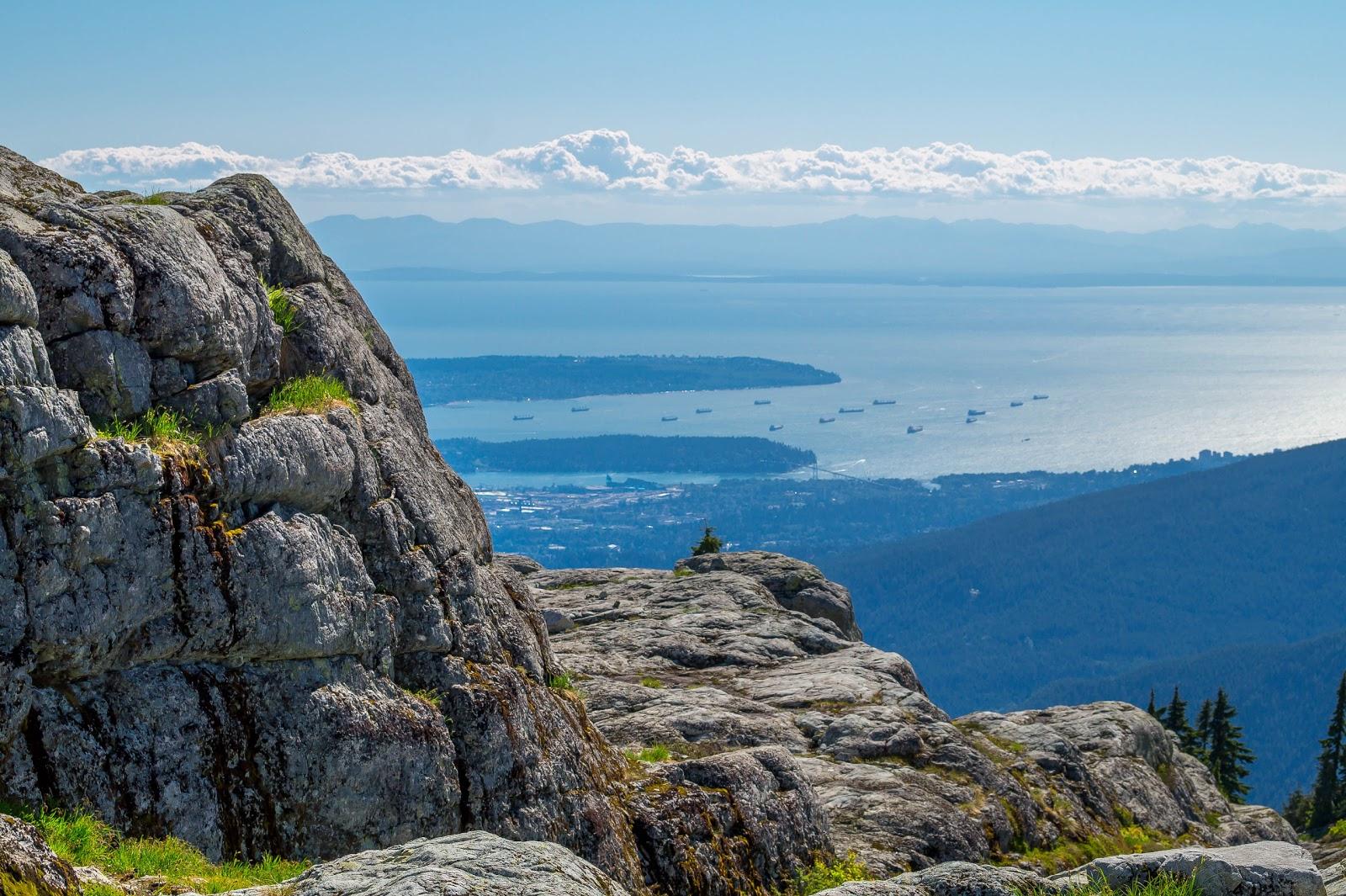 Вид на океан с горы Сеймур