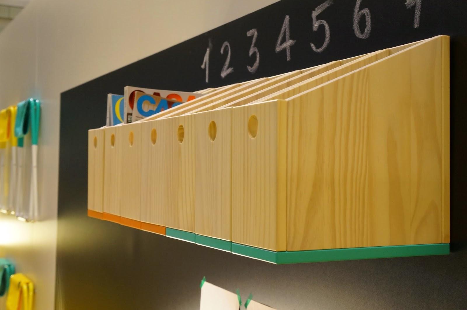 Bel Lobo - Coleção Vira e Mexe - Tok&Stok - caixa para arquivo/porta-revistas fixada na parede