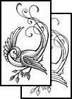 sparrow tattoos ideas sparrow birds tattoos stencils. Black Bedroom Furniture Sets. Home Design Ideas