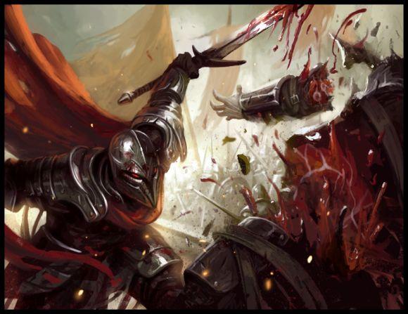 mike lim daarken ilustrações fantasia medieval violência batalhas monstros arte conceitual video games Carnificina