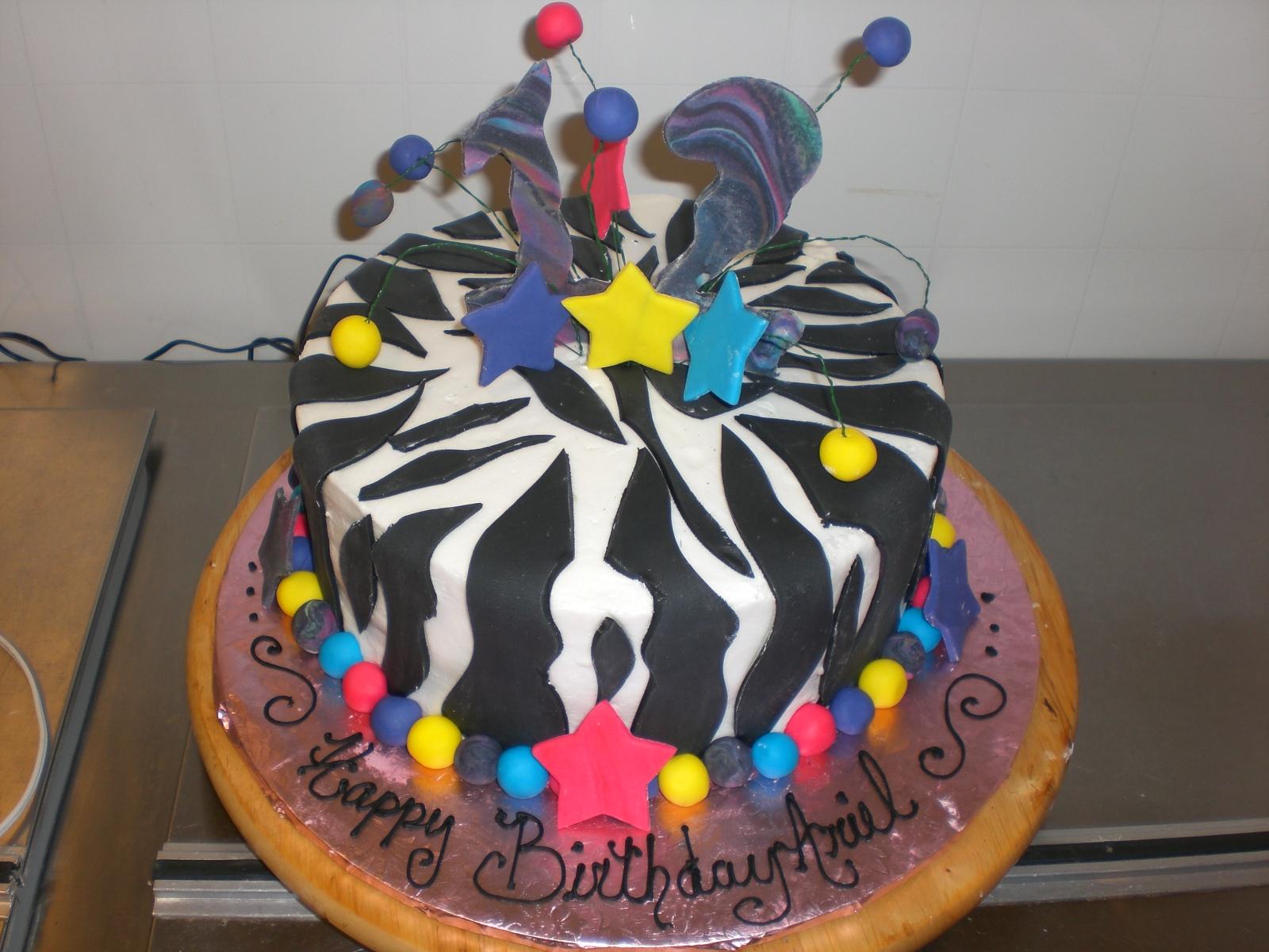 CAFE AROMAS: Zebra Print and Tye Dye Cake