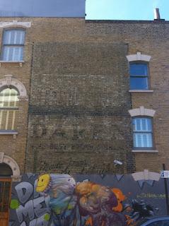 Ghost sign for Daren Brown Bread, Denmark Hill, London SE5