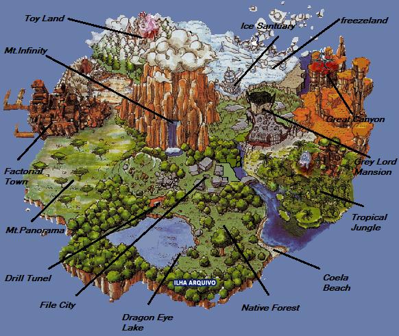 Digimon World 1 Map ~ AFP CV on