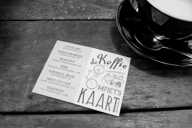 Koffie omfietskaart