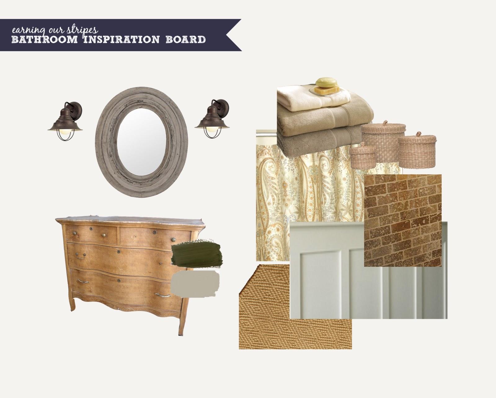 Earning our stripes bathroom renovation inspiration for Bathroom renovation inspiration