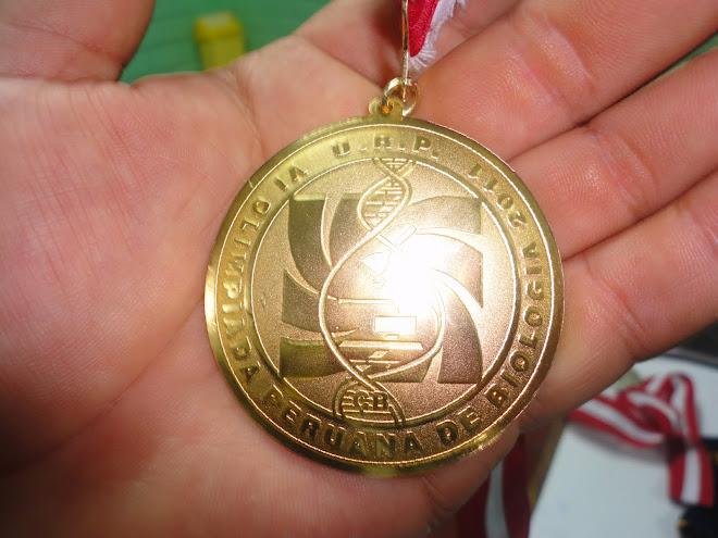 VI OLIMPIADA PERUANA DE BIOLOGIA O.P.B. 2011. 2 MEDALLAS DE ORO. CAMPEONES NACIONALES 2011.