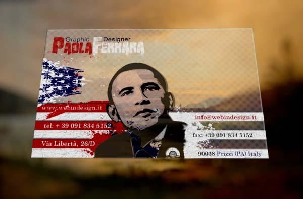 tarjeta de presentación plastica