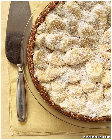 Junk-Food Makeover: Banana, Coconut, and Cashew-Cream Tart