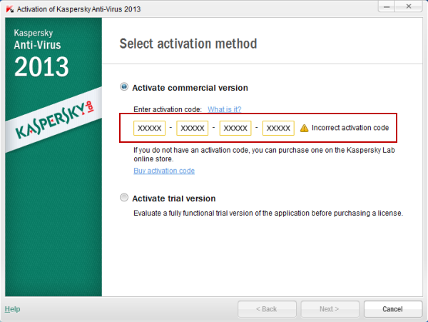 kaspersky antivirus 2013 activation code
