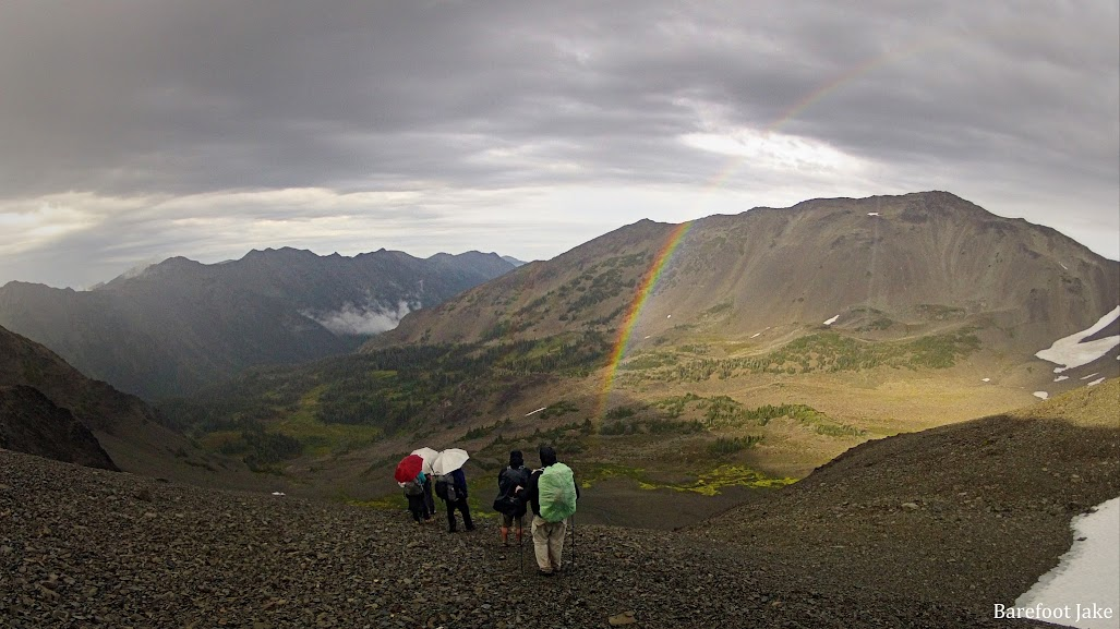 Backpacking rainbow