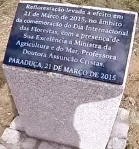 Placa de reflorestação da Serra da Freita