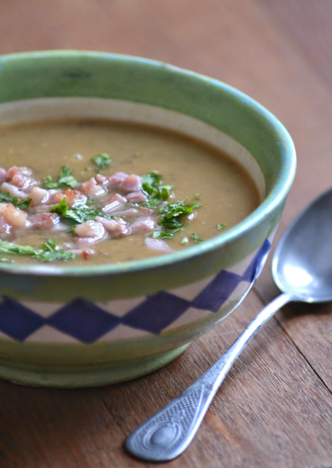 Snelle soep van linzen en pompoen