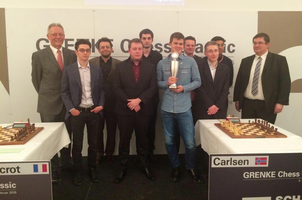 Magnus Carlsen - Vencedor del Grenke Chess Classic 2015