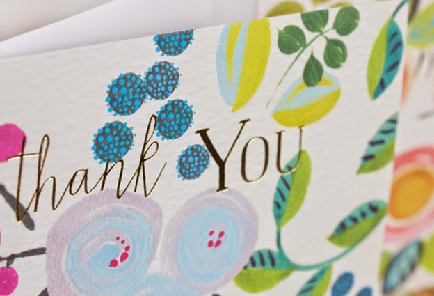 thank you, flowers, floral cards, spring, greeting cards, designers, Liz and Pip
