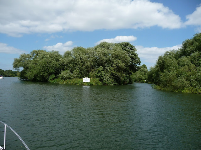 Bush Ait on the River Thames,Berkshire