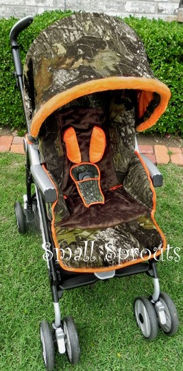 Small Sprouts Camo Baby Mossy Oak Breakup Stroller Cover