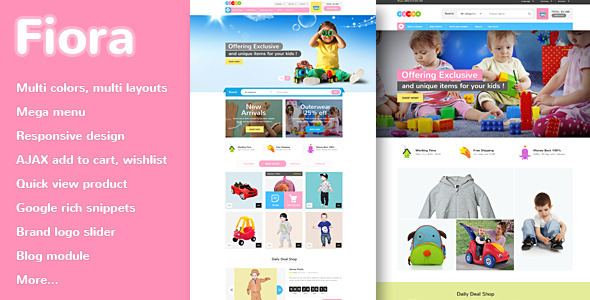Best Responsive Kids Store eCommerce Theme