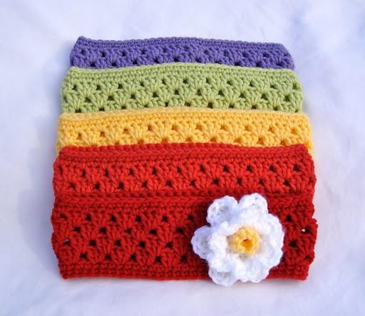 free crochet pattern granny stripe headband