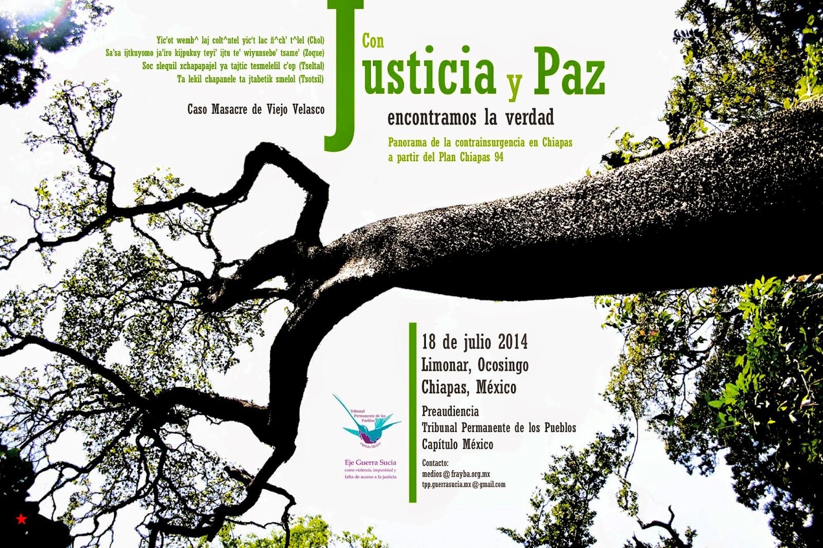 Preaudiencia TPP Chiapas Contrainsurgencia