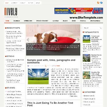 Nively blog template. template image slider blog. magazine blogger template style