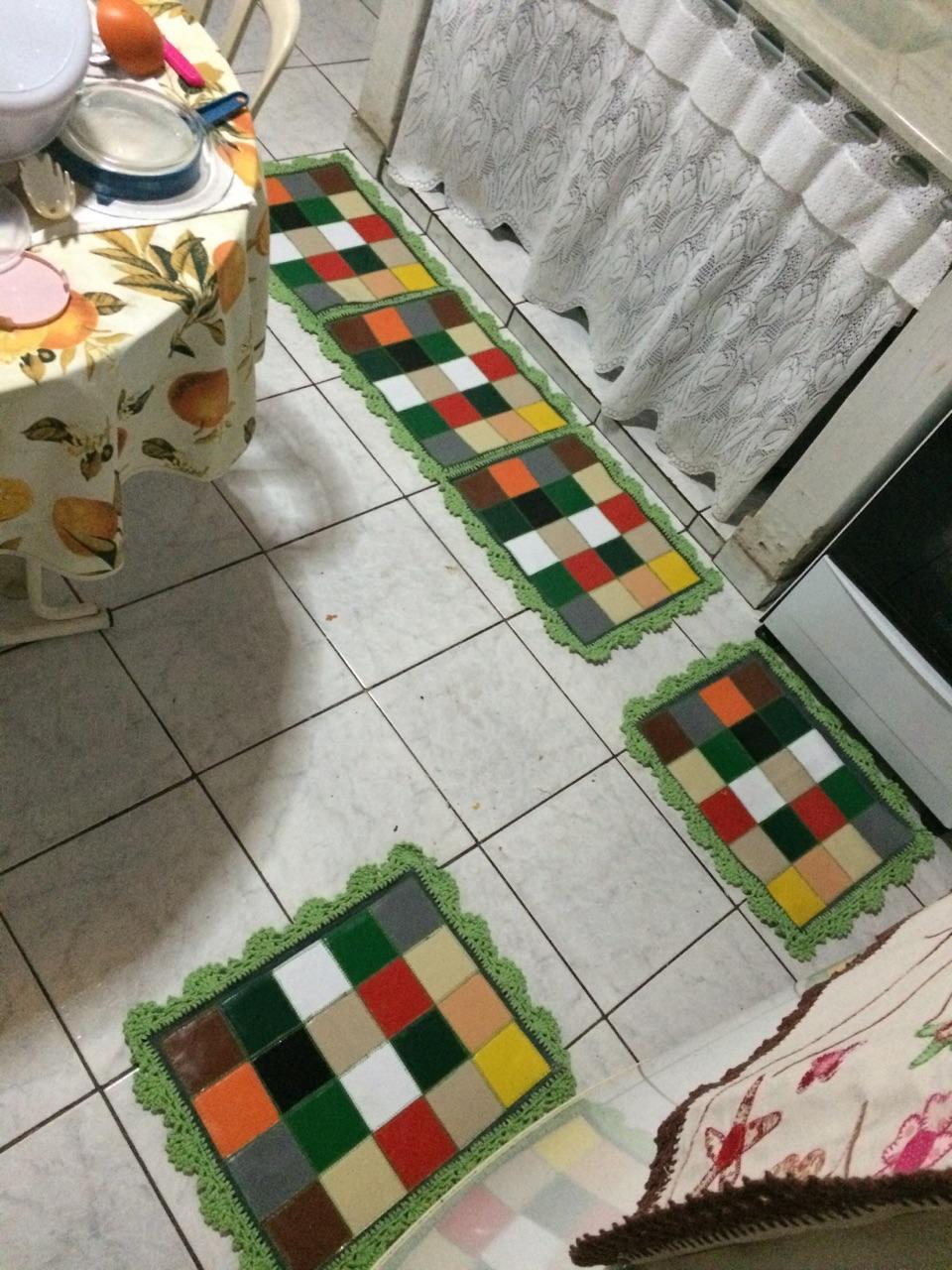 Badau Artes Tapetes Para Cozinha -> Tapete De Tecido Para Cozinha