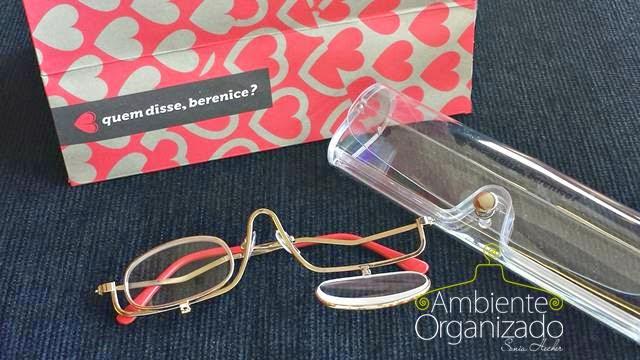 Óculos com lente móvel para maquiagem