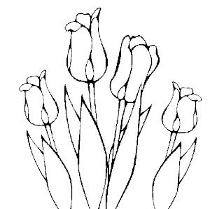 a desenhar Flores  colorir