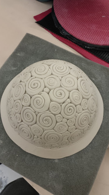 Coil bowl in progress.