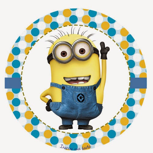 Despicable me free printable toppers labels or stickers despicable me