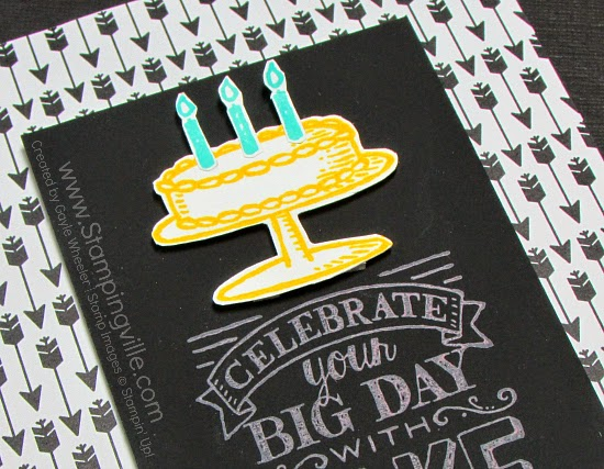 Chalkboard paper + Chalk inks = Great Look! #papercrafts #cardmaking #StampinUp