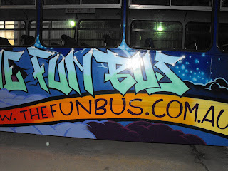 Sydney New South Wales airbrush art bus dobell designs traditional signs aedan howlett and stu dobell