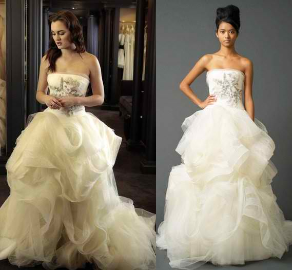 Gossip girl season 5 royal wedding dress style vanity for Wedding dress blair waldorf