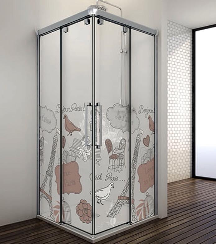 Mamparas ofertas com mampara de ducha serie vetro de for Oferta mampara ducha
