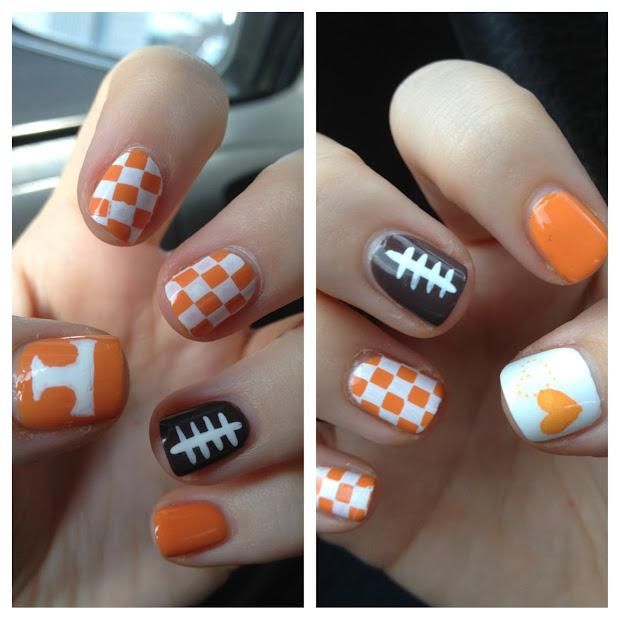 super cute nails football