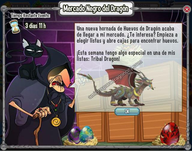 imagen del tribal dragon en el mercado negro del dragon