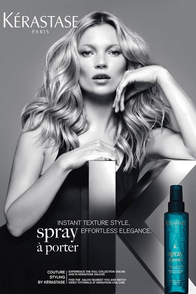 Kerastase Paris 'Couture Styling' Campaign featuring Kate Moss