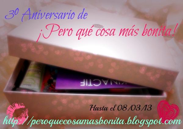 3º Aniversario de ¡Pero que cosa más bonita! hasta el 8 de Marzo  Español