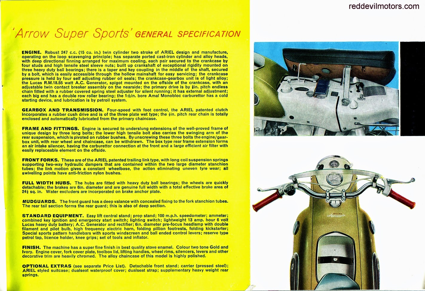 Ariel Arrow and Leader brochure page 8